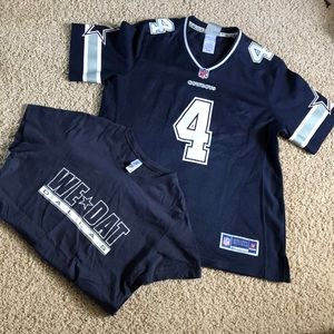 Cowboys jersey and bonus tee shirt